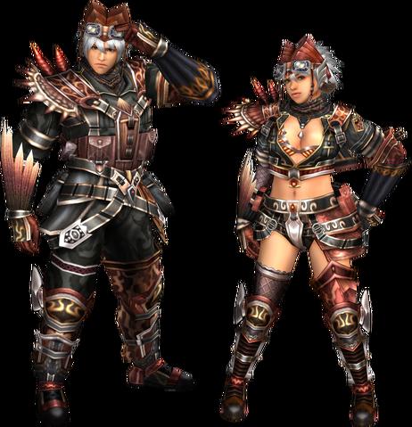 File:FrontierGen-Kuryusu Armor (Blademaster) and Ku-oto Armor (Gunner) Render 2.png