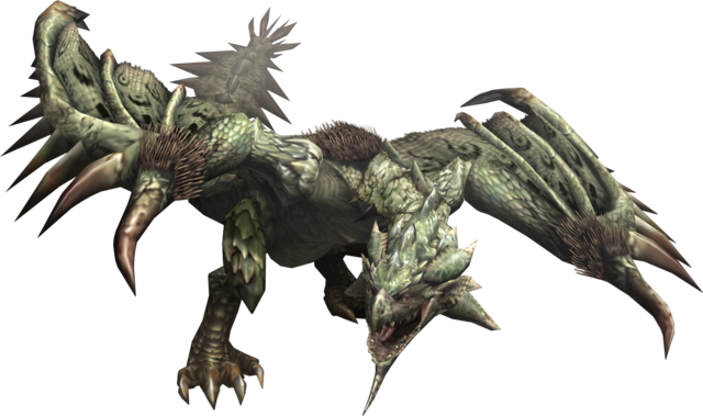 File:MHF2-Rathian Render 001.png