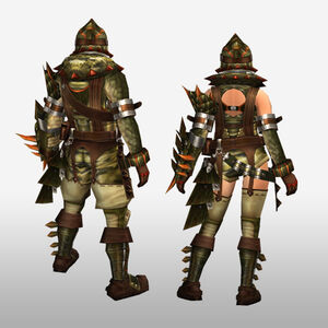 FrontierGen-Abio Armor (Gunner) (Back) Render