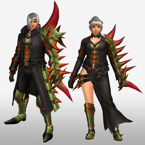 FrontierGen-Espina G Armor (Gunner) (Front) Render