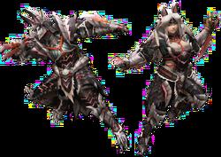 FrontierGen-Stygian Armor (Blademaster) Render 2