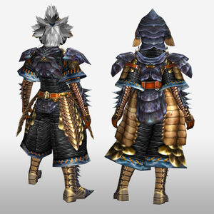 FrontierGen-Lava G Armor (Blademaster) (Back) Render