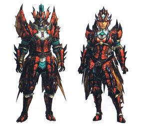 MH3U-Rathalos X Armor Render