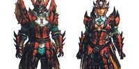 Rathalos X Armor (Blademaster) (MH3U)