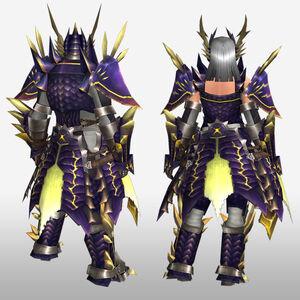 FrontierGen-Rebi G Armor (Blademaster) (Back) Render