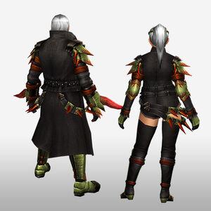 FrontierGen-Espina G Armor (Blademaster) (Back) Render