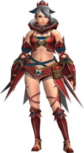 FrontierGen-Gania Armor (Female) (Both) (Front) Render 001