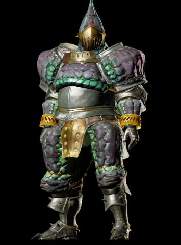 File:MHO-Purple Gypceros Armor (Blademaster) (Male) Render 001.png