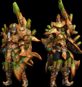 FrontierGen-Gurea Armor (Gunner) Render 2
