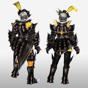 FrontierGen-Akura Armor 007 (Blademaster) (Back) Render