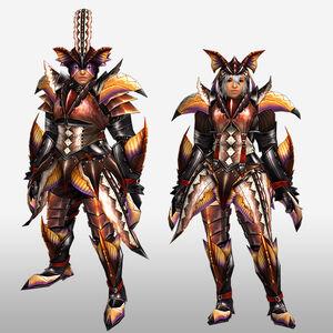 FrontierGen-Paria G Armor (Blademaster) (Front) Render