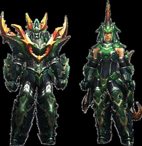 File:MH4U-Seltas Armor (Blademaster) Render 001.png