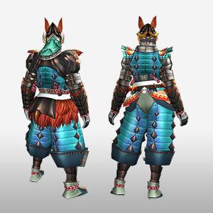 FrontierGen-Inari Armor (Blademaster) (Back) Render