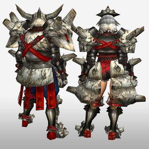 FrontierGen-Gurabido G Armor (Blademaster) (Back) Render