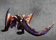 MH4U-Frenzied Tigrex Wallpaper 001