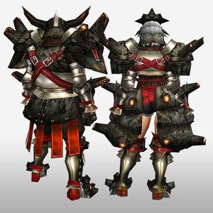 FrontierGen-Gurabide G Armor (Blademaster) (Back) Render