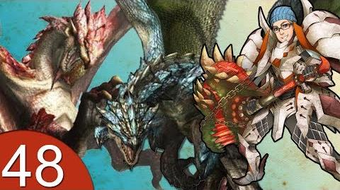 Monster Hunter 4 Nubcakes 48 - Pink Rathian & Azure Rathalos English commentary online gameplay