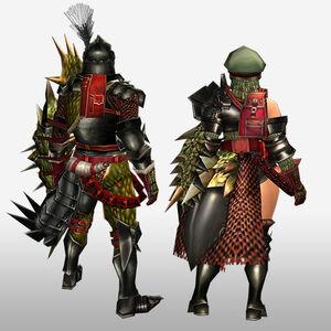 FrontierGen-Reia G Armor (Gunner) (Back) Render