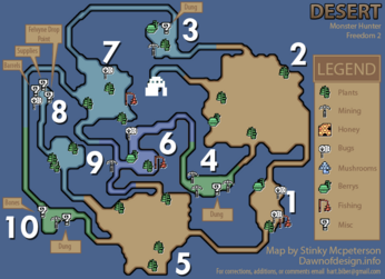 Desert gathering map(MHF2)