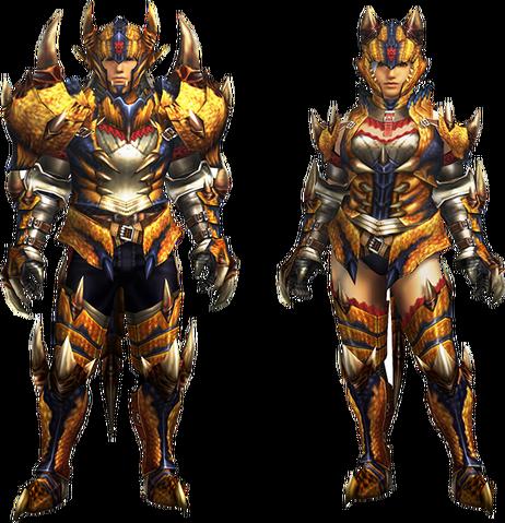 File:MH4U-Tigrex Rare Relic Armor (Blademaster) Render 001.png