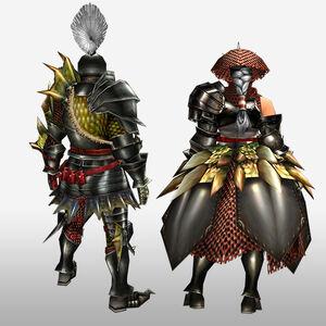 FrontierGen-Reia G Armor (Blademaster) (Back) Render
