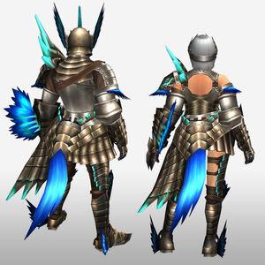 FrontierGen-Mitama G Armor (Gunner) (Back) Render