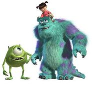 Monsters, Inc. Sulley, Mike, and Boo