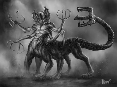 Kyron demon centaur concept by ptimm-d6e0mc1