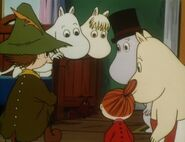 Moomins, Snufkin and Vampire
