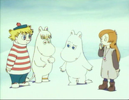 Moomintroll, Snorkmaiden, Alice and Too-Ticky