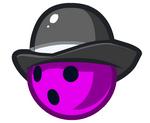 Purple Bowler Ball