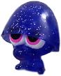 Pooky figure glitter purple
