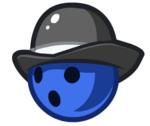 Blue Bowler Ball