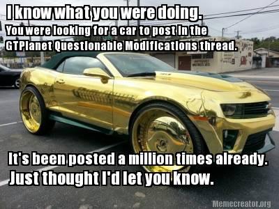 Image Chevrolet Camaro Zl1 Gold Chrome Donk Meme