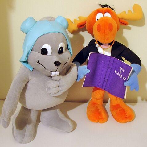 File:Rocky and Bullwinkle twentyone inch plush toys.JPG