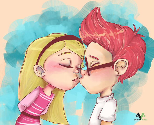 File:Sherman and Penny Peterson kissing fan art by asinevenisa-d7785j4.jpg