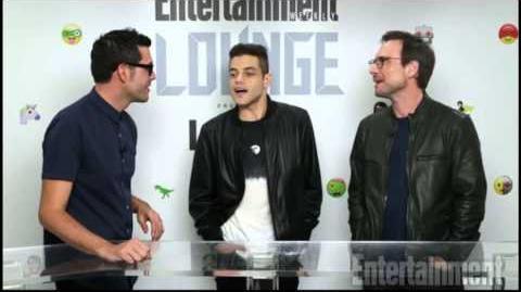 Mr. Robot Comic Con interview Christian Slater Rami Malek