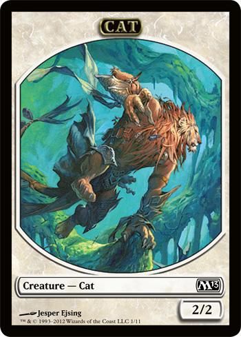 Cat Warrior Token Mtg
