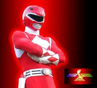 Red Ranger Arms Folded