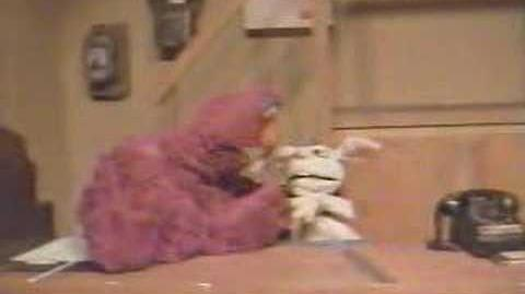 Telly Monster Drop Kicks Rapid T. Rabbit off Sesame Street