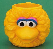 Applause 1994 plastic mug big bird