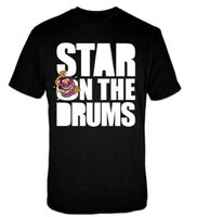 Loud distribution star on the drums shirt