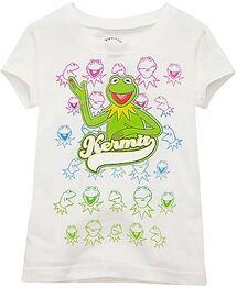 Many Faces of Kermit Girls 2010 disney store shirt