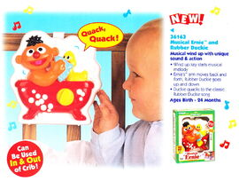 Tyco 1998 musical ernie and rubber duckie