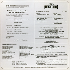 Big Bird Leads the Band - LP back