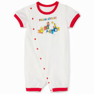 Mono comme ca ism japan 2013 t-shirt feelings with rhinestone elmo toddler outfit white