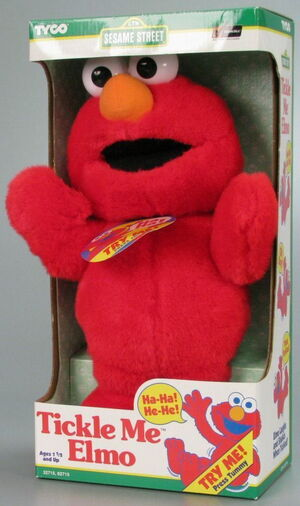 Tickle me elmo box