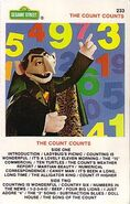 Sesame street cassette - the count counts 233