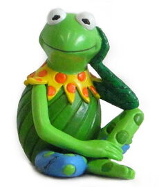 Enesco romero britto kermit pop art figurine