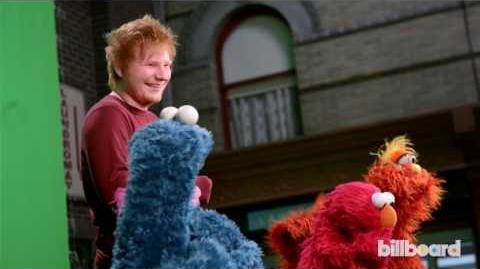 """Ed Sheeran & Macklemore on """"Sesame Street"""" Behind-the-Scenes"""